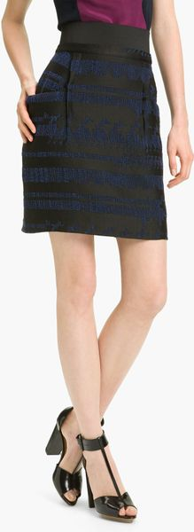 3.1 Phillip Lim Jacquard Skirt in Black - Lyst
