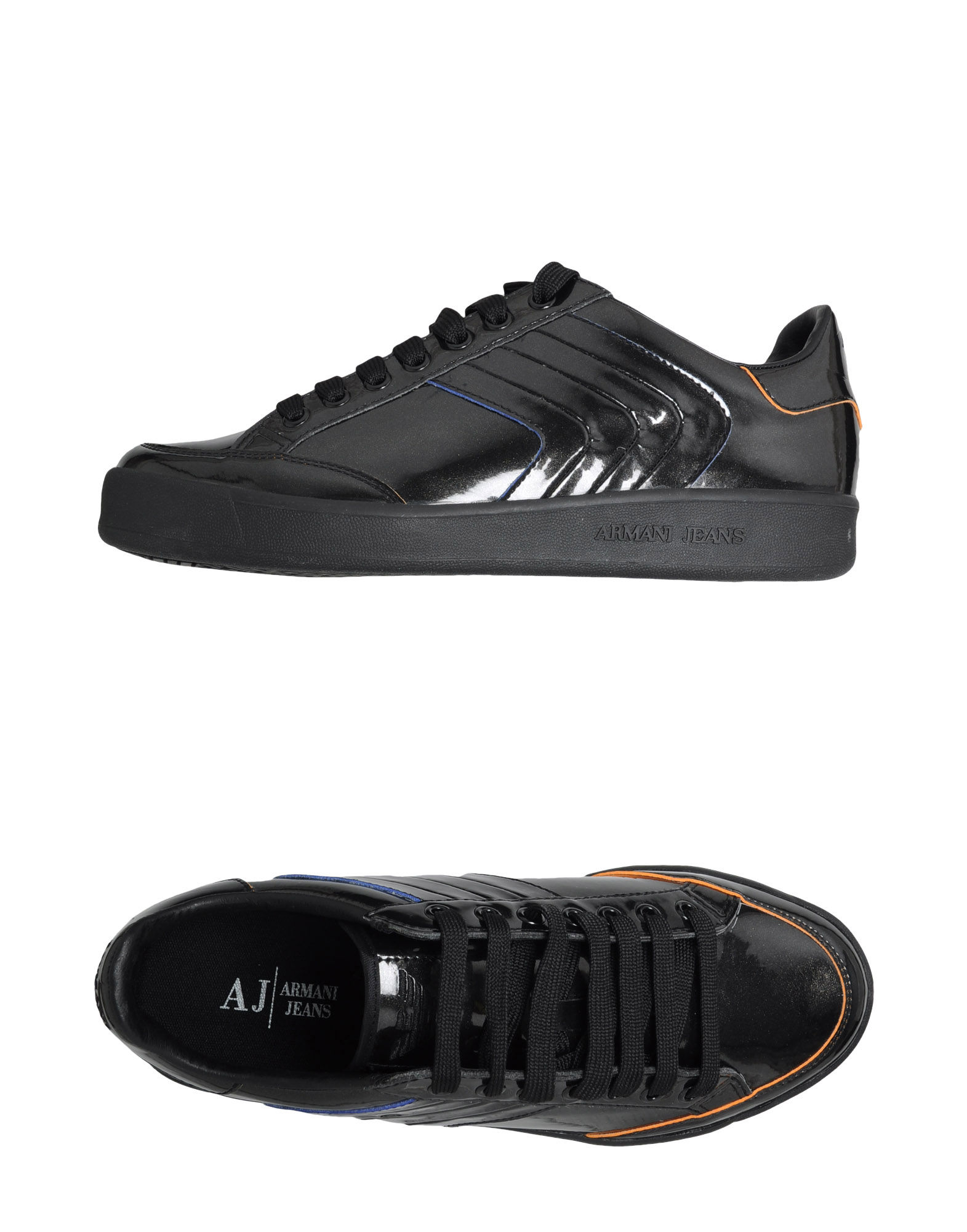 armani sneakers in black for lyst