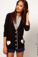 Asos Exclusive Cardigan with Heart Pockets - Lyst