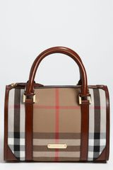 Burberry Check Bowling Bag - Lyst