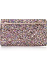 Jimmy Choo Cayla Glitter Finished Clutch - Lyst