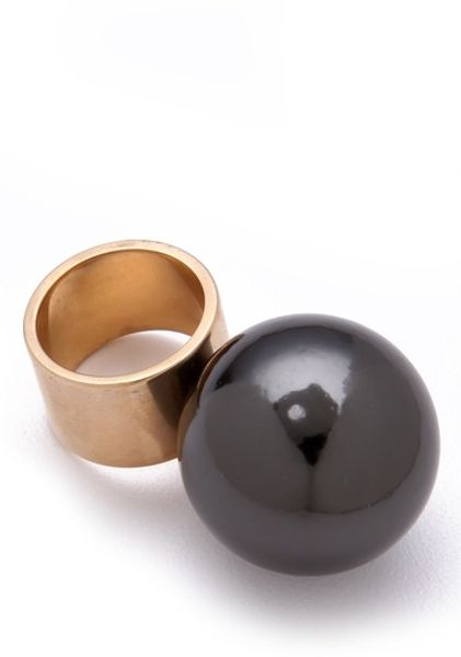 Kelly Wearstler Large Sphere Ring in Gold - Lyst