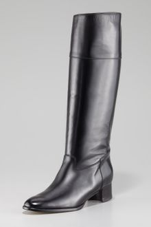 Manolo Blahnik Equestra Leather Tall Boot - Lyst