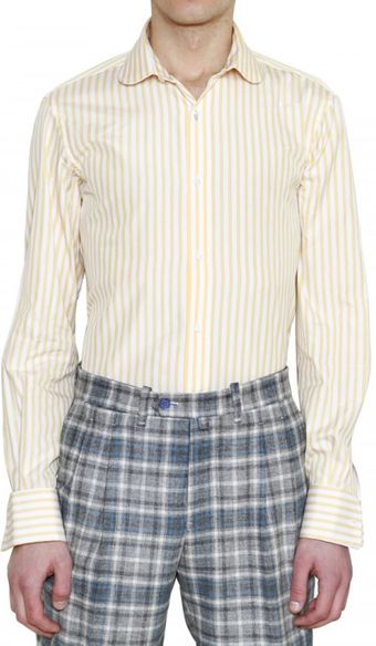 Manuel Vanni Striped Cotton Shirt - Lyst