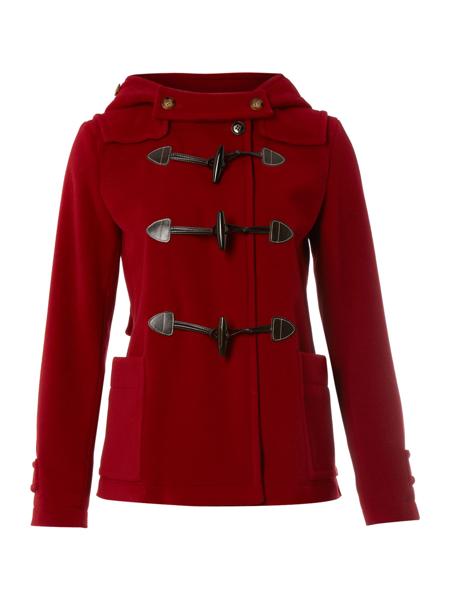 Weekend by maxmara Vera Short Duffle Coat in Red | Lyst