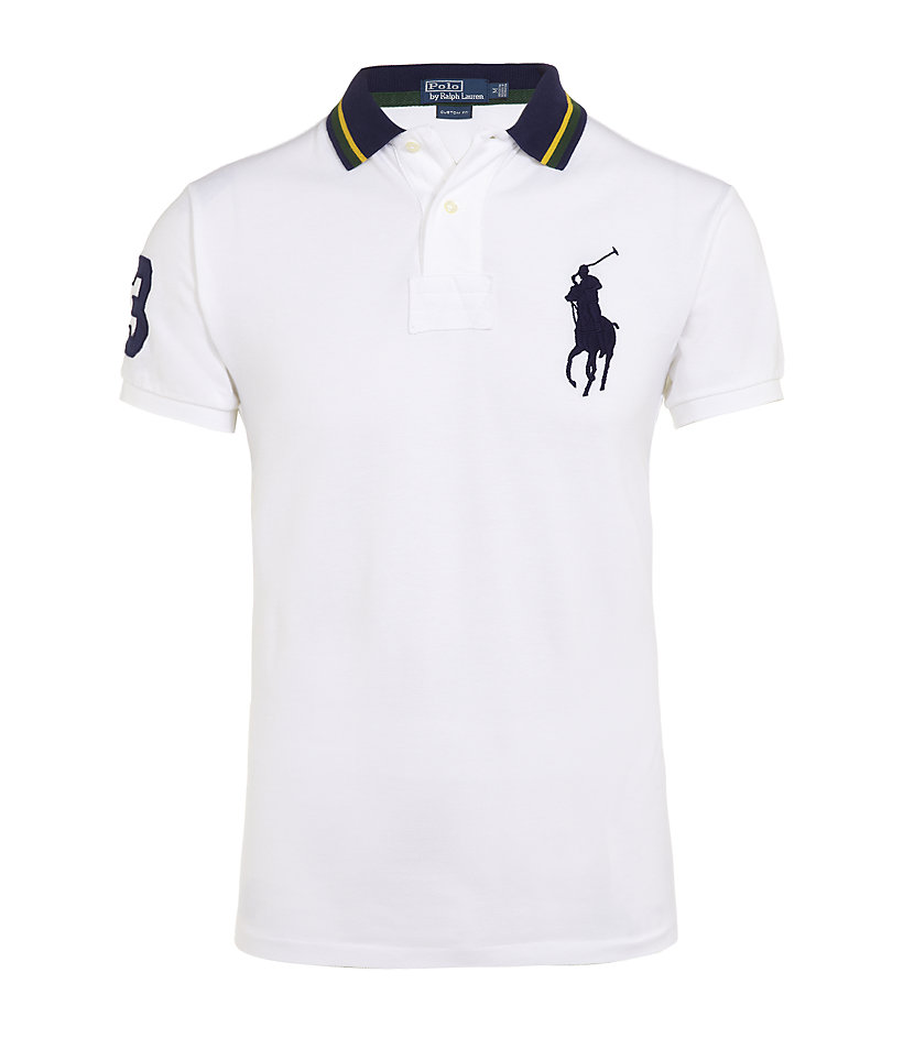 Polo ralph lauren Custom Fit Big Pony Polo Shirt in White for Men | Lyst