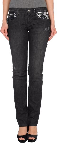 Replay Denim Trousers in Blue (black) - Lyst