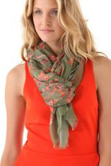 Thakoon Addition Floral Camo Printed Scarf - Lyst