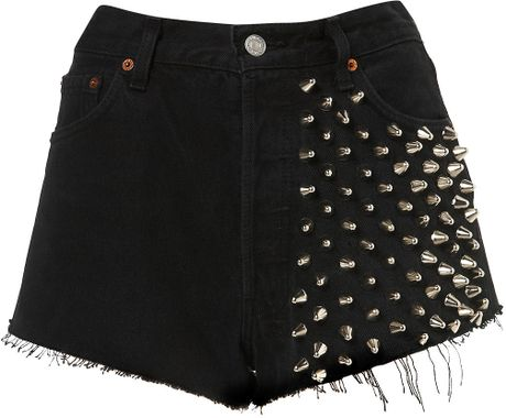 Topshop Ultimate Shorts By The Ragged Priest in Black - Lyst