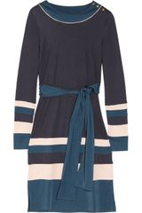 Tory Burch Gina Colorblock Silk Jersey Dress - Lyst