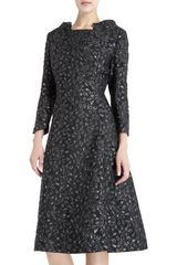 Barbara Tfank Floral Brocade Dress