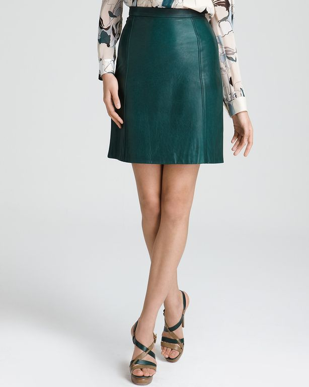 DKNY A Line Leather Skirt. Infuse your 9-to-5 style with downtown edge