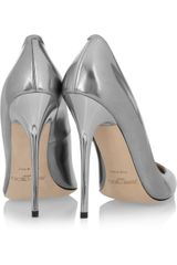 Jimmy Choo Anouk Metallic Leather Pumps in Silver - Lyst