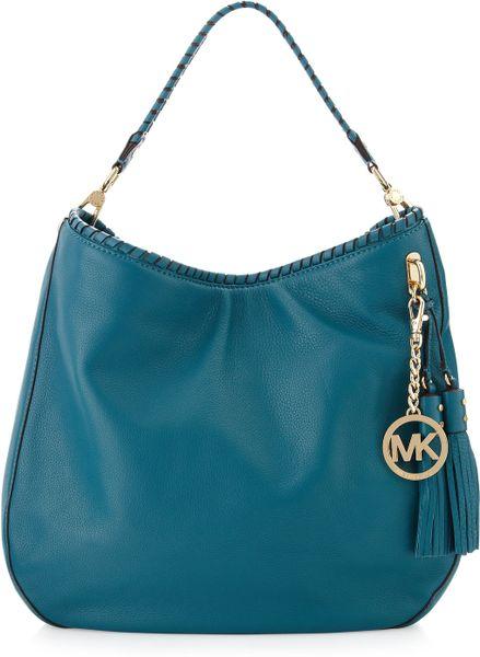 michael michael kors bennet large shoulder bag turquoise