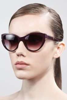 Stella Mccartney Sunglasses Cateye Sunglasses Burgundy - Lyst