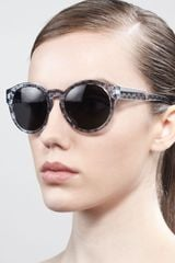 Stella Mccartney Sunglasses Round Dotprint Enamel Sunglasses  - Lyst