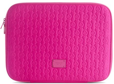 Michael Kors Neoprene Mac Book Case in Pink (lacquer pink) - Lyst