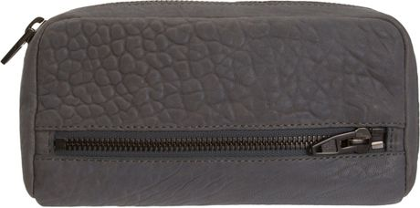 Alexander Wang Fumo Continental Wallet in Gray (black) - Lyst