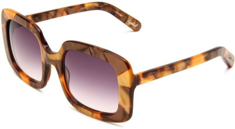 Elizabeth And James  Kendall Square Sunglasses in Brown (metallic brown frame/smoke lens) - Lyst