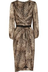 Giambattista Valli Animalprint Silkcharmeuse Dress