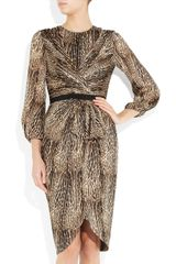 Giambattista Valli Animalprint Silkcharmeuse Dress in Animal - Lyst