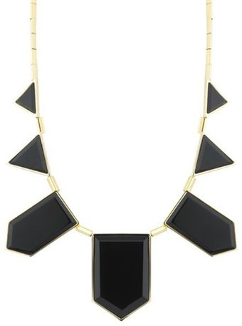 House Of Harlow 5 Station Necklace With Black Resin - Lyst