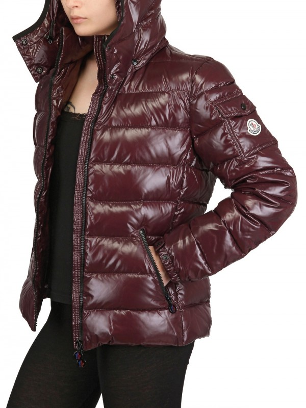 b657350f34e3 Lyst - Moncler Bady Hooded Shiny Nylon Down Jacket in Purple
