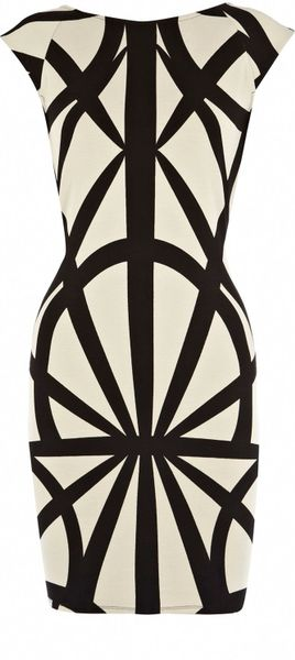 Oasis Tribal Bodycon Dress in Beige (natural)
