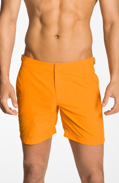 Orlebar Brown Swim Trunks in Orange for Men (belize orange) - Lyst