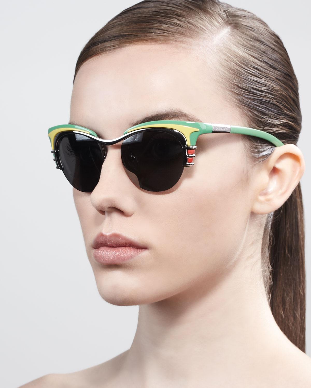 ad90a3992b535 ... denmark lyst prada dixie car deluxe club master sunglasses in blue  e37db 80ecf