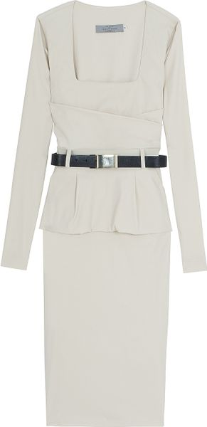 Preen Peplum Dress in White - Lyst
