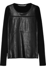 Reed Krakoff Cashmere Blend And Leather Sweater - Lyst