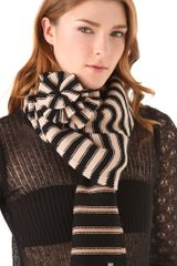 Sonia Rykiel Tricolor Scarf with Flower - Lyst