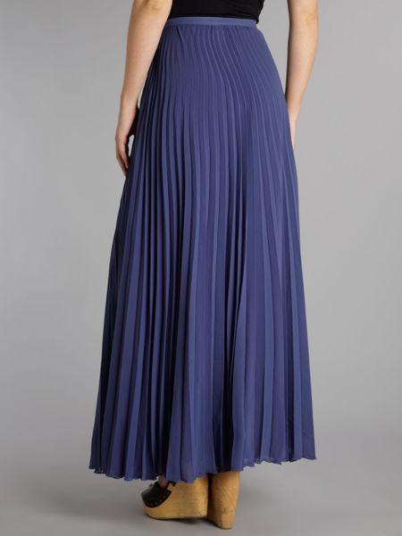 tfnc pleated maxi skirt in purple mauve lyst
