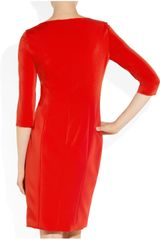 Versace Embellished Stretchcrepe Dress in Red (scarlet) - Lyst