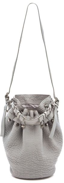 Alexander Wang Diego Bucket Bag in Gray (mercury) - Lyst