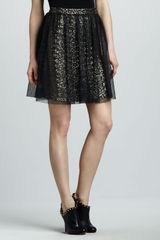 Alice + Olivia Carlyn Sequined Skirt in Black - Lyst