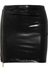 Balmain Zipdetailed Lamé Mini Skirt - Lyst