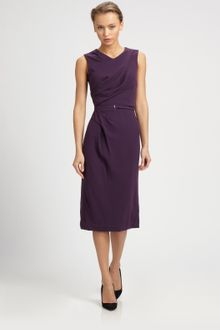 Carolina Herrera Wool Crepe Dress - Lyst