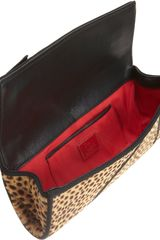 Christian Louboutin Ponyhair Jungle Lavalliere Clutch in Beige (red) - Lyst