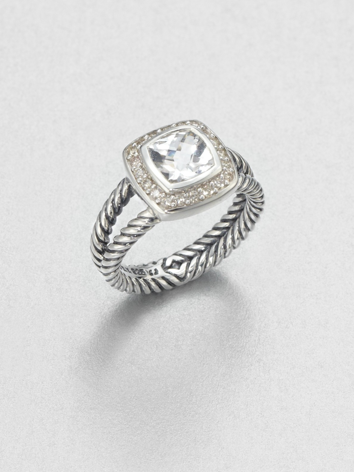 david yurman accented white topaz sterling silver