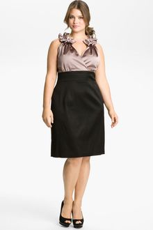 Donna Ricco Pleated Sheath Dress - Lyst