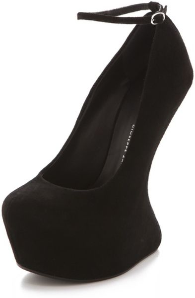 Giuseppe Zanotti Sculptural Wedge Pumps in Black - Lyst