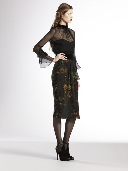 Gucci Potpourri Print Dress in Black (brandy) - Lyst