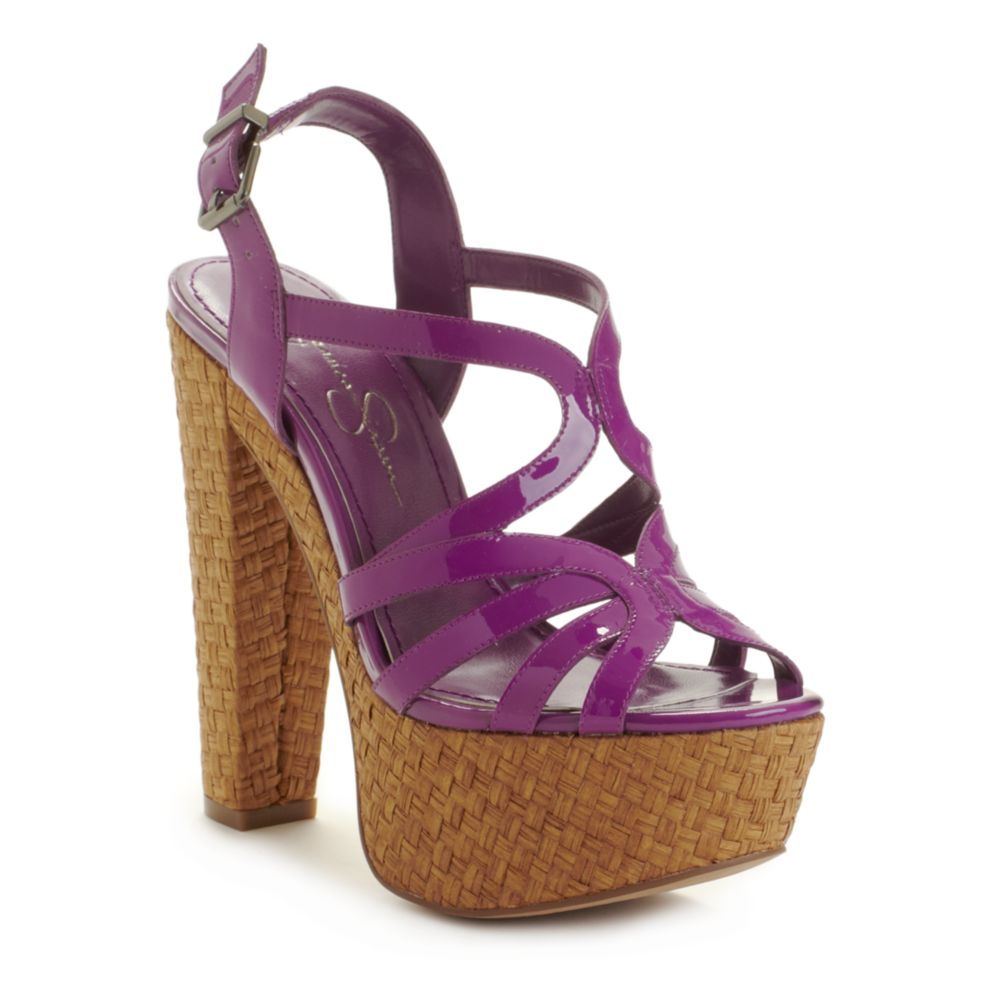 cizal wedge sandals in purple lyst