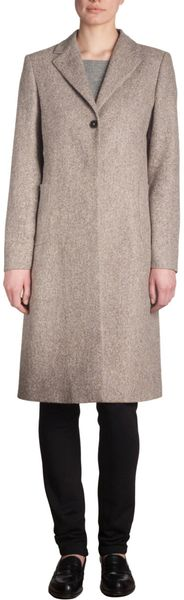 Jil Sander One Button Coat in Brown - Lyst