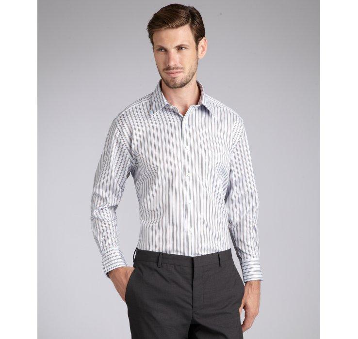 Joseph abboud light blue multi stripe cotton davis dress for Joseph abboud dress shirt