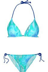 Just Cavalli Printed Triangle Bikini - Lyst