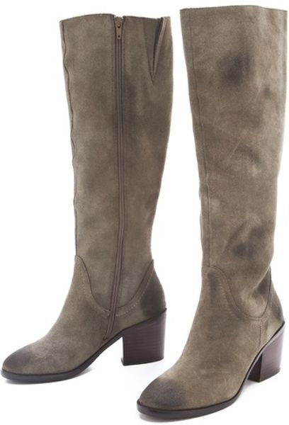 kelsi dagger kendall knee high boots in gray taupe lyst