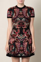 McQ by Alexander McQueen Intarsiaknit Flirty Dress - Lyst